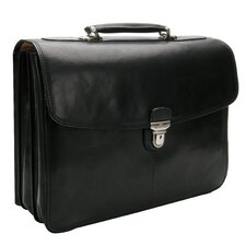 Green Bella Russo Leather Laptop Briefcase