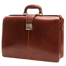 Italico Beneven Triple Gusset Lawyer's Leather Laptop Briefcase