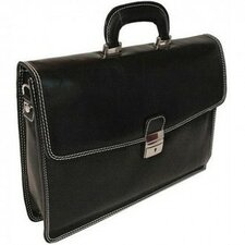 Vernio Leather Laptop Briefcase