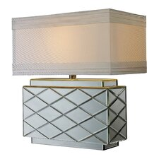 """Wellsville 22"""" H Table Lamp with Rectangular Shade"""