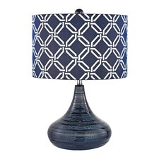 """Textured 20.5"""" H Table Lamp with Drum Shade"""