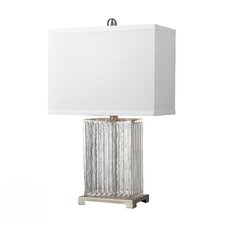 Overexposed 24'' H Table Lamp with Rectangular Shade