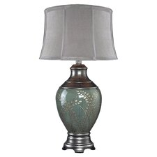 """Chippendale 31"""" H Table Lamp with Oval Shade"""