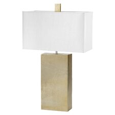 """Cement Tower 31"""" Table Lamp with Rectangular Shade"""