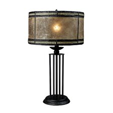 """Mica Filagree 23"""" H Table Lamp with Drum Shade"""