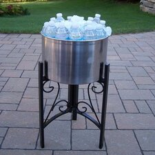"""Coolers 14"""" Stainless Steel Ice Bucket and Stand"""