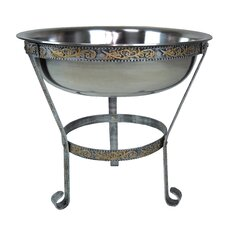 """20"""" Stainless Steel Ice Bucket with Stand"""