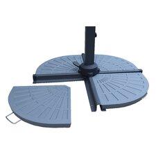 Cast Rust-Free Polyresin Fan shape Umbrella Stand Weight