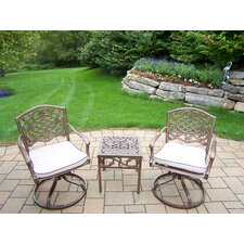 Mississippi Swivel Rocker 3 Piece Dining Set with Cushions