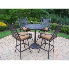 Belmont 5 Piece Bar Set with Cushions