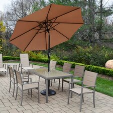 Padded Sling 9 Piece Dining Set