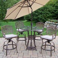 Hummingbird Mississippi Swivel Bar Set with Cushions and Umbrella