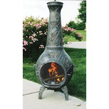 Butterfly Cast Iron Wood Chiminea