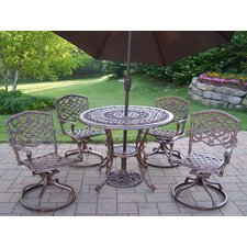 Mississippi Dining Set with Umbrella
