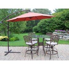 Hummingbird Mississippi Swivel 5 Piece Bar Set with Cushions and Umbrella