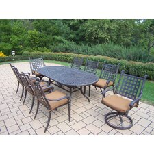 Belmont Oval 9 Piece Dining Set with Cushions