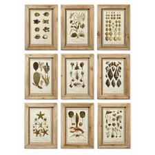 Antibes 9 Piece Framed Graphic Art Set