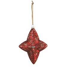Wintersong Star Glass Ornament (Set of 3)