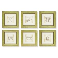 Williamsburg Garden 6 Piece Framed Wall Art Set
