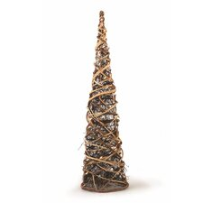Sierra Lodge Grapevine Cone Tree with Lights