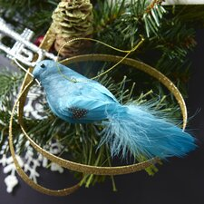 Trousseau 2 Piece Vintage Glitter Bird Ornament Set (Set of 6)