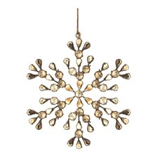 Trousseau Vintage Pearl Snowflake Ornament (Set of 2)