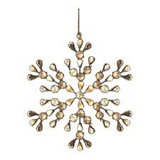 Trousseau Vintage Pearl Snowflake Ornament (Set of 2)