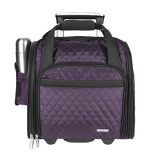 "14"" Rolling Underseat Quilted Microfiber Carry On"