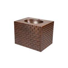 "24"" Single Hand Hammered Copper Wall Mount Bathroom Vanity Set"