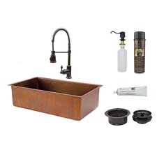 "33"" x 19"" Basin Kitchen Sink with Faucet"
