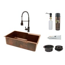 "33"" x 22"" Single Basin Kitchen Sink with Faucet"