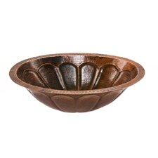 Oval Sunburst Undermount Hammered Copper Sink