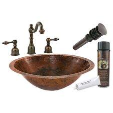 Master Bath Under Counter Hammered Sink