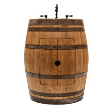 "28"" Single Wine Barrel Bathroom Vanity Set"