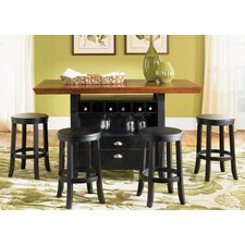 5 Piece Kitchen Island Set