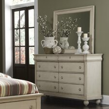 Rustic Traditions 8 Drawer Dresser with Mirror