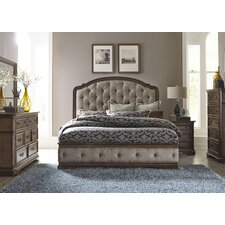 Panel Upholstered Customizable Bedroom Set
