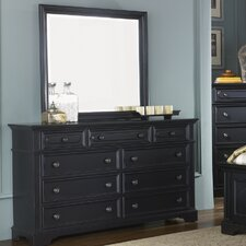 Carrington II Bedroom 9 Drawer Dresser with Mirror