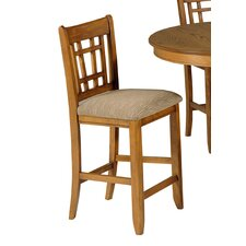 "24"" Bar Stool with Cushion (Set of 2)"