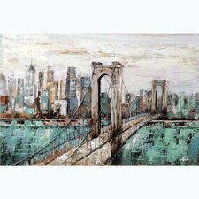 City Scape Canvas Painting on Wrapped Canvas