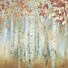 Birch Beauties I Painting Print on Wrapped Canvas