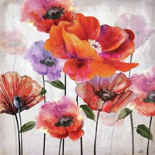 Flowers in Spring Painting on Wrapped Canvas