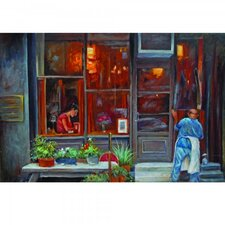 Italian Street Original Painting on Wrapped Canvas