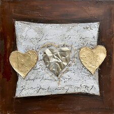 Revealed Art Hearts of Gold Original Painting on Canvas