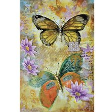 Revealed Art Butterfly Garden II Original Painting on Wrapped Canvas
