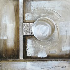 Contemporary & Abstract Art Orb Illusion II Original Painting on Wrapped Canvas