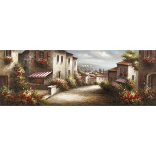 Revealed Artwork European Village II Original Painting on Wrapped Canvas