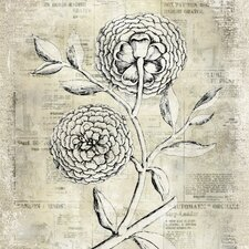 Revealed Artwork Antiqued Bloom II Graphic Art on Wrapped Canvas