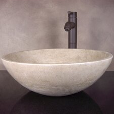 Hand Carved Classic Round Vessel Bathroom Sink