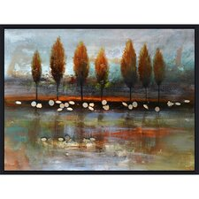 Revealed Artwork Autumn Reflection Painting Print on Wrapped Canvas